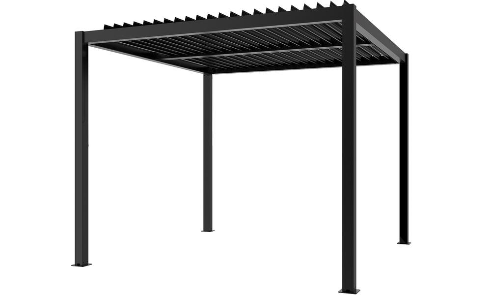 Dark charcoal   aluminium pergola   web 2