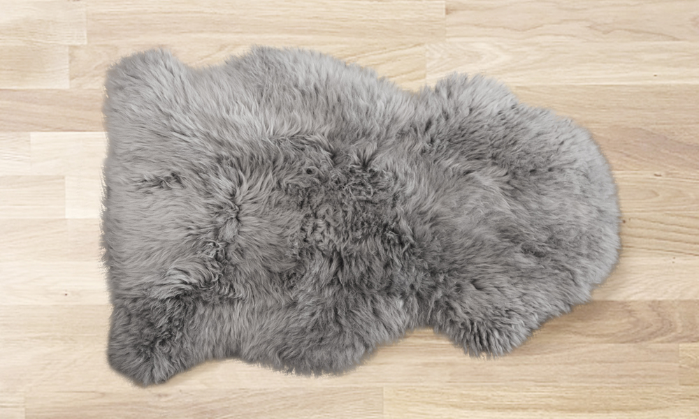 Sheepskin rug grey web1