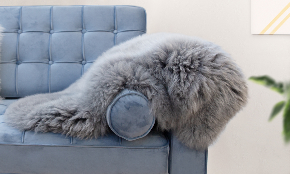 Sheepskin rug grey web4