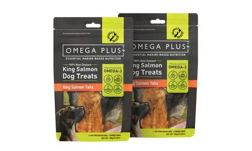 Omega plus king salmon tails   pet treats new 2320   web1