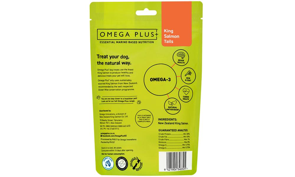 Omega plus king salmon tails   pet treats new 2320   web2