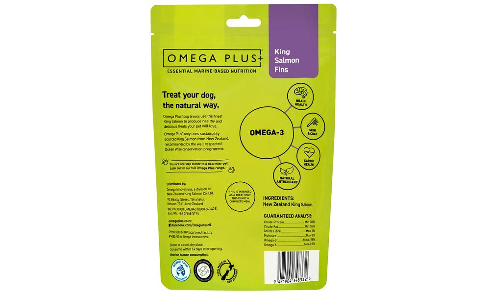 Omega plus king salmon fins   pet treats new 2321   web2
