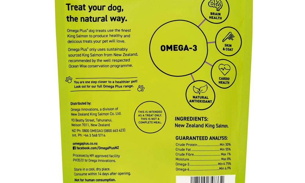 Omega plus king salmon fins   pet treats new 2321   web3