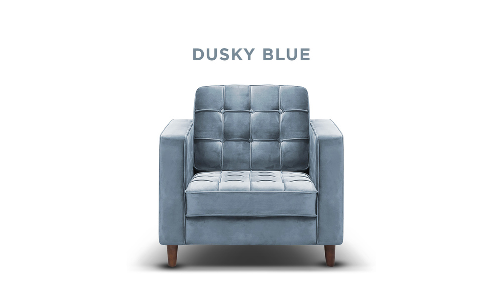New dusky blue   knightly velvet armchair   web