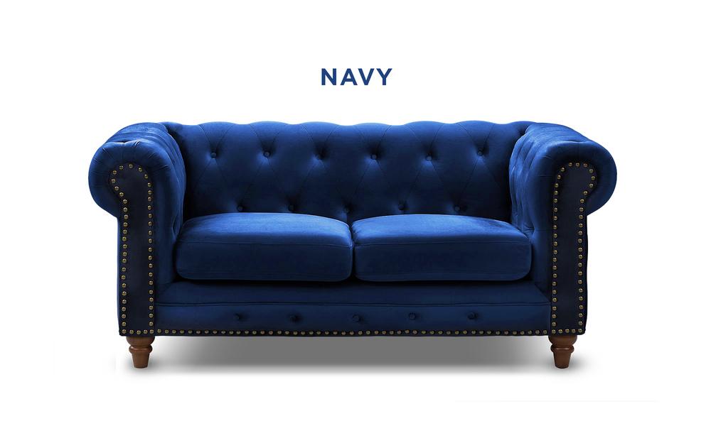 New navy   kensington velvet button 2 seater sofa   web1