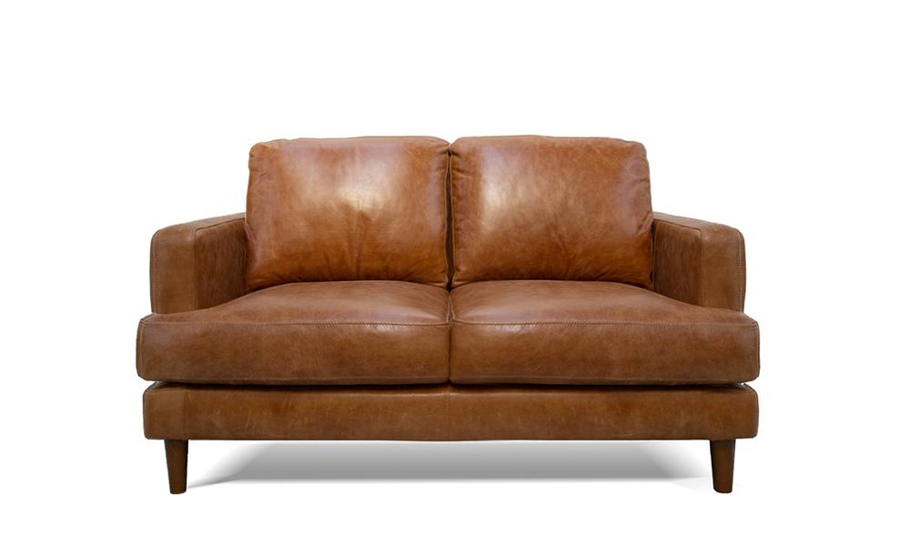 Pecan   2s taranto leather sofa 2323   social