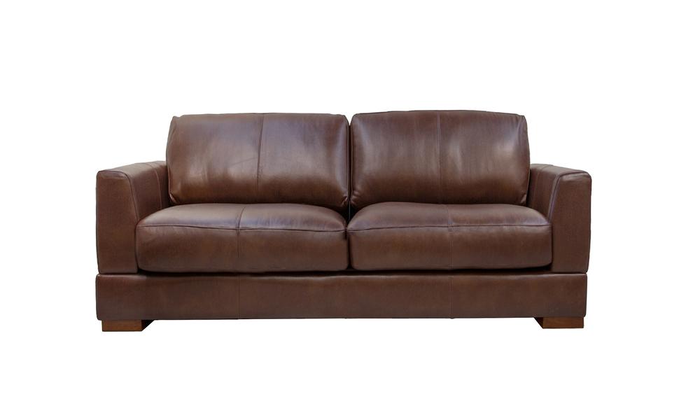 Mocha 3s milano leather sofa 2322   web