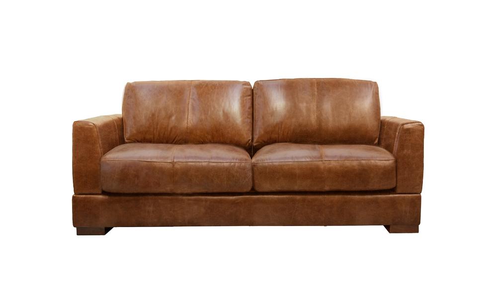 Pecan 3s milano leather sofa 2322   web