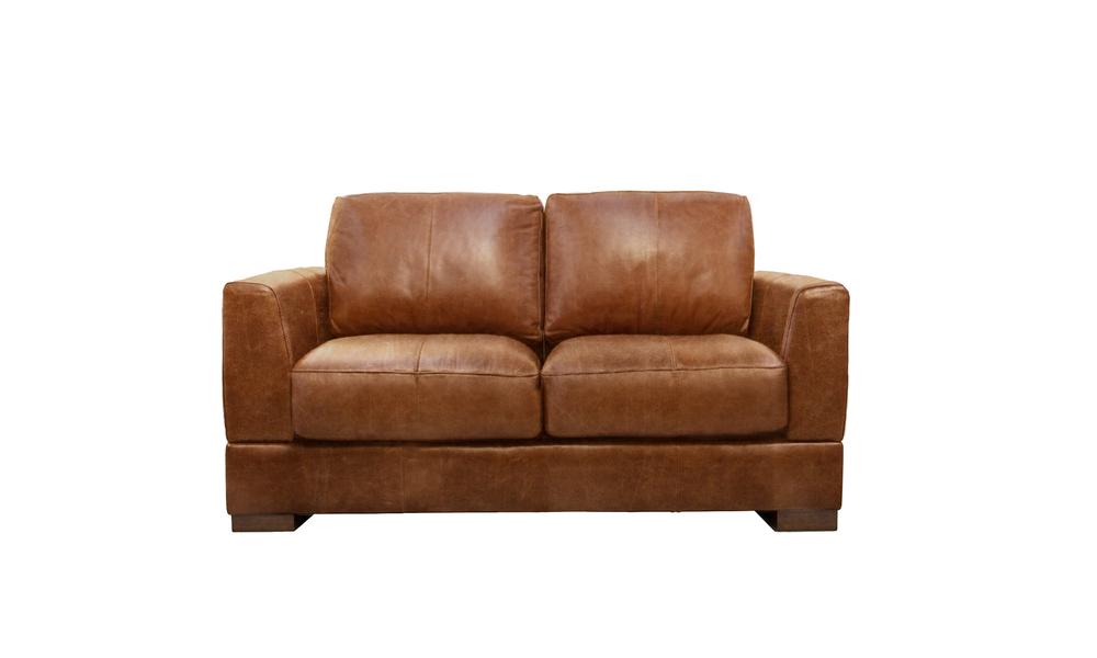 Pecan 2s milano leather sofa 2322   web
