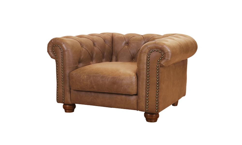 New lexington leather chesterfield armchair   web