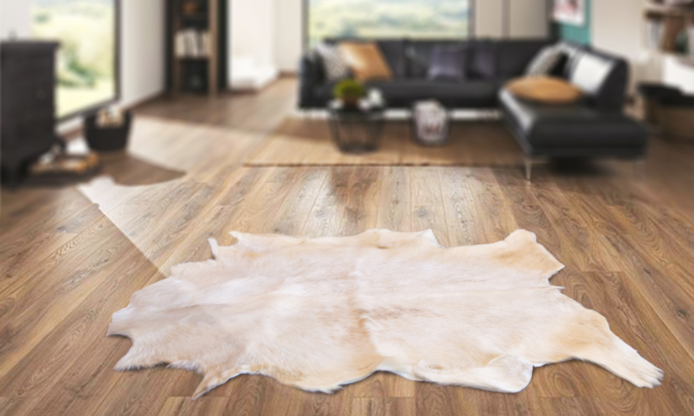 New zealand made goat skin rug 2348   web2
