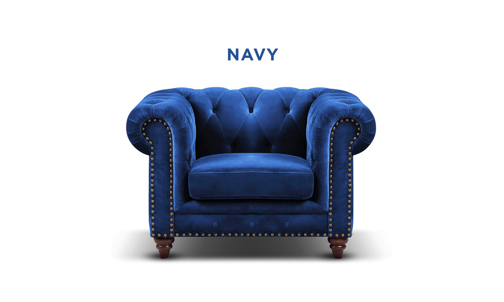 New navy   kensington velvet button armchair   web1