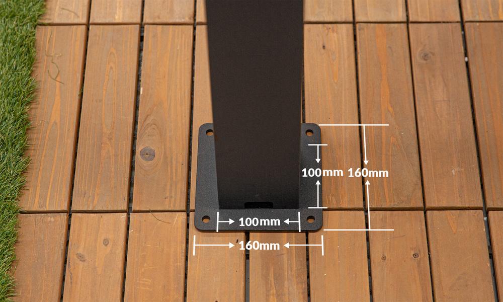 Dimension   aluminium pergola   web