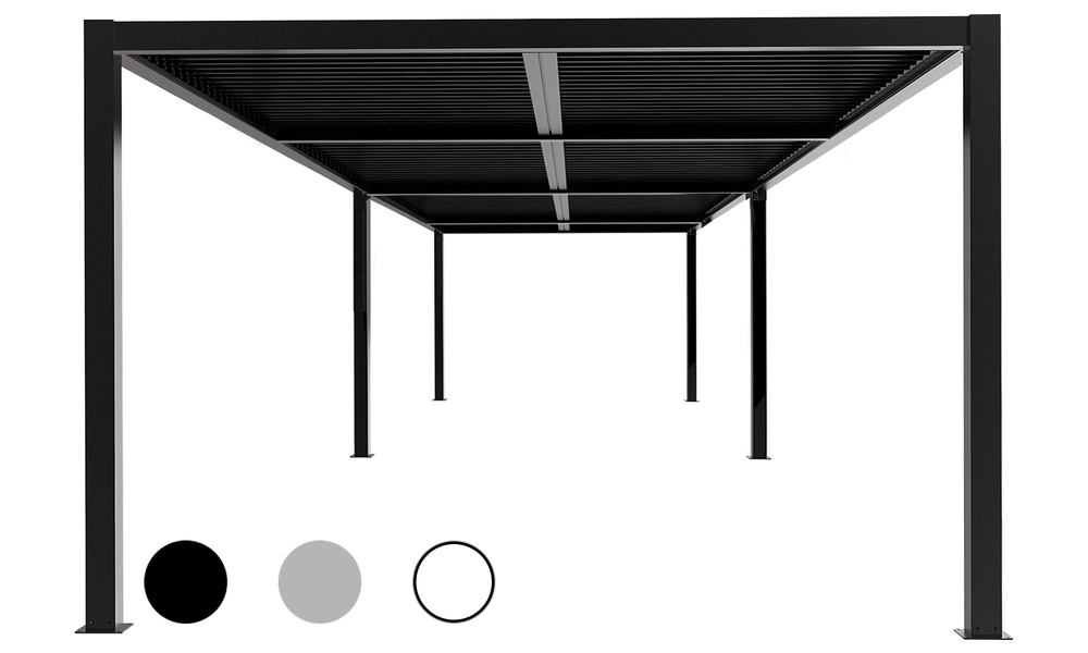Hero 8x4 dark charcoal   aluminium pergola 2359   web1