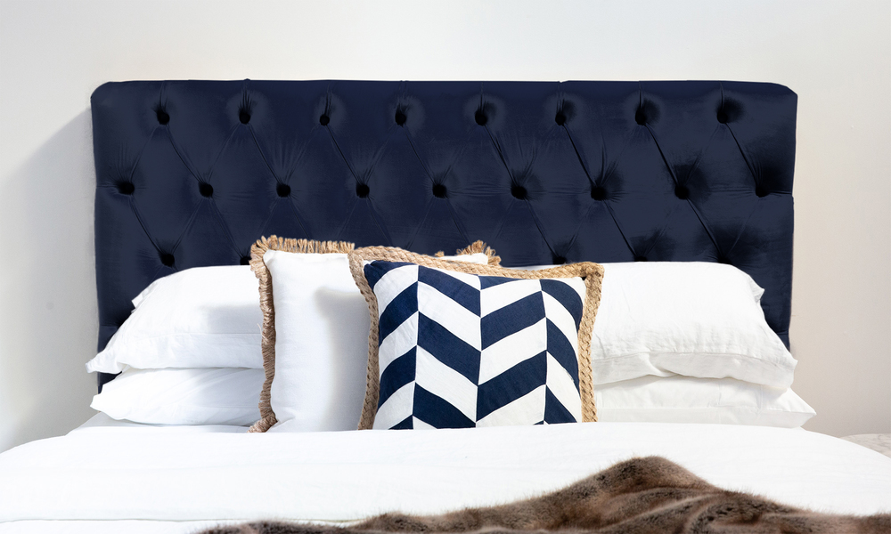 Champagne   kingston velvet tufted headboard   web navy %281%29