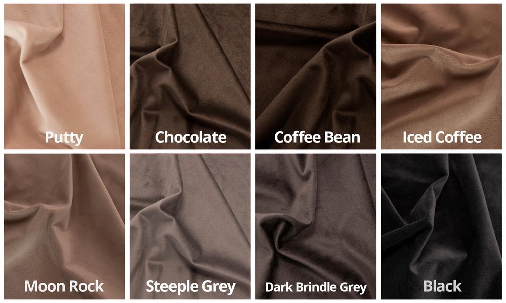Velvet swatches brown