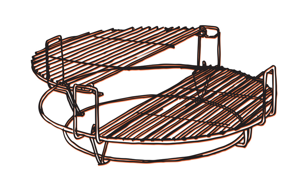 Kamado split level cooker   web5