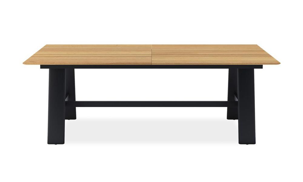 Valencia rectangle dining table 150 aluminium legs 2419   web1