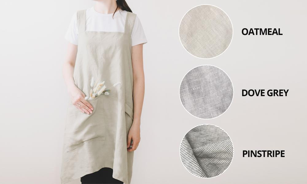 100  stone washed french linen apron 2353   web1