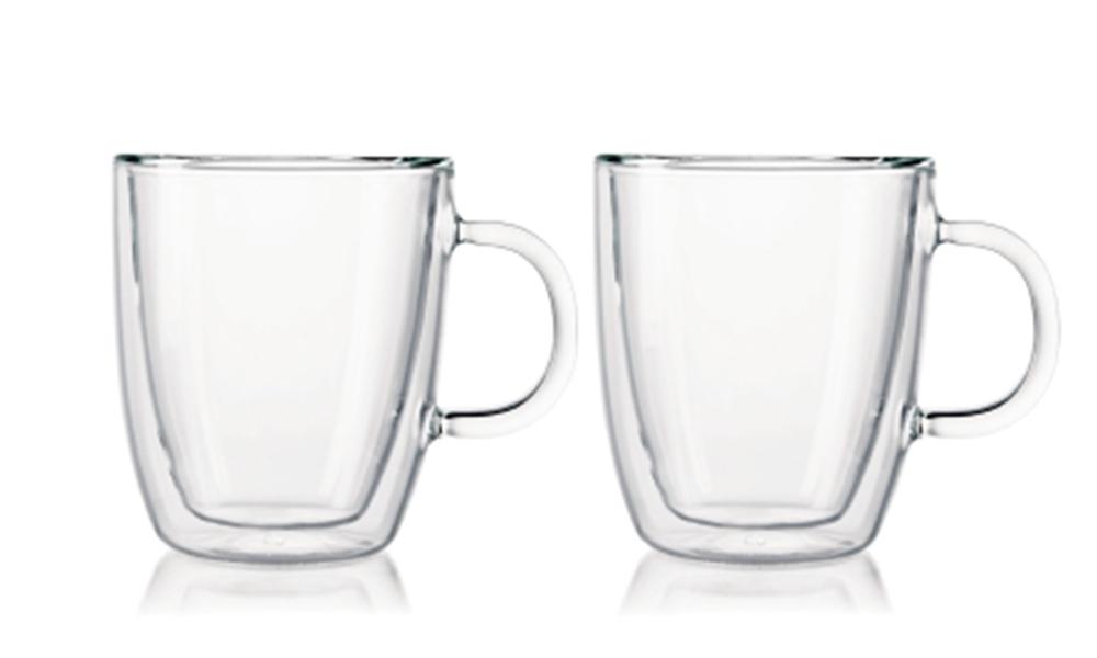 Bodum bistro double wall espresso mug 300ml 2pc set 2460   web1