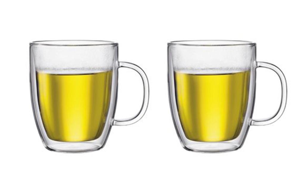 Bodum bistro double wall espresso mug 450ml 2pc set 2461   web1