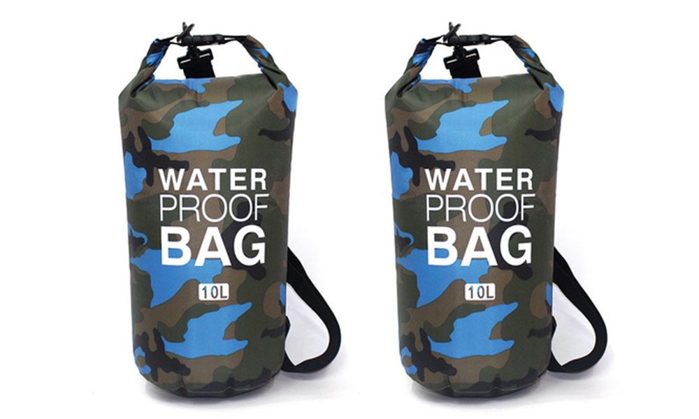 Blue dry bags with shoulder strap 2452   web1