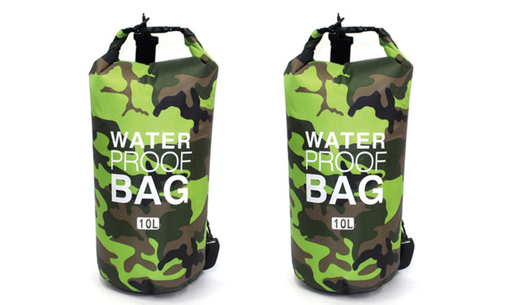 Green dry bags with shoulder strap 2452   web1