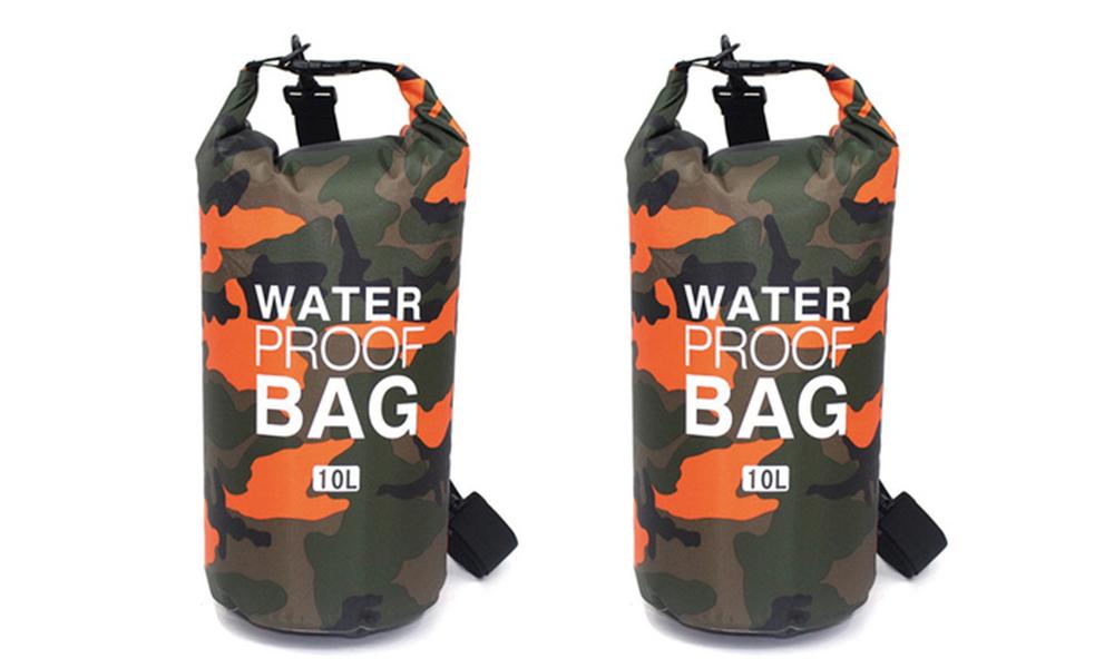 Orange dry bags with shoulder strap 2452   web1