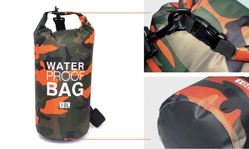 Orange dry bags with shoulder strap 2452   web3