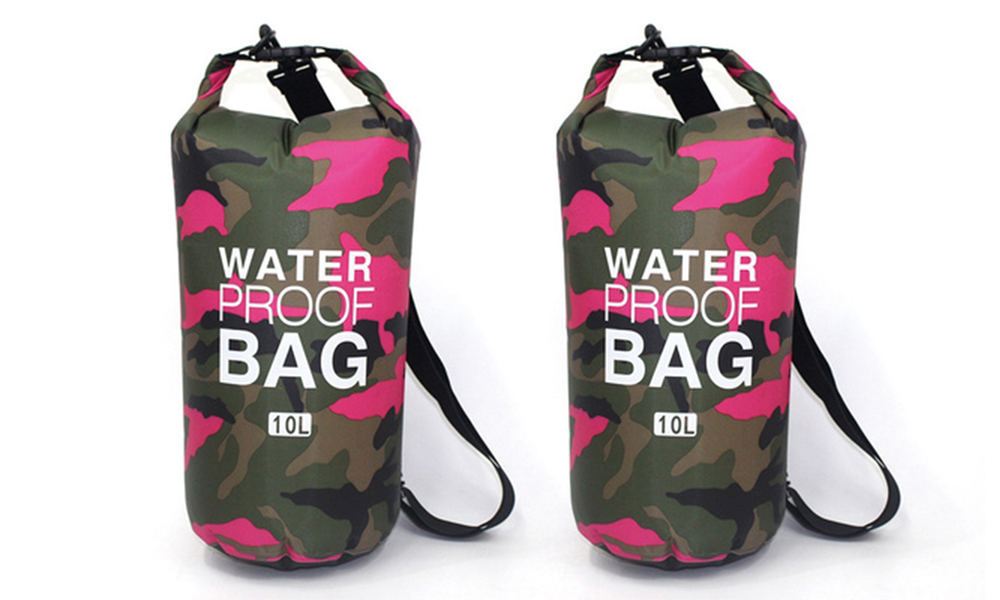 Pink dry bags with shoulder strap 2452   web1