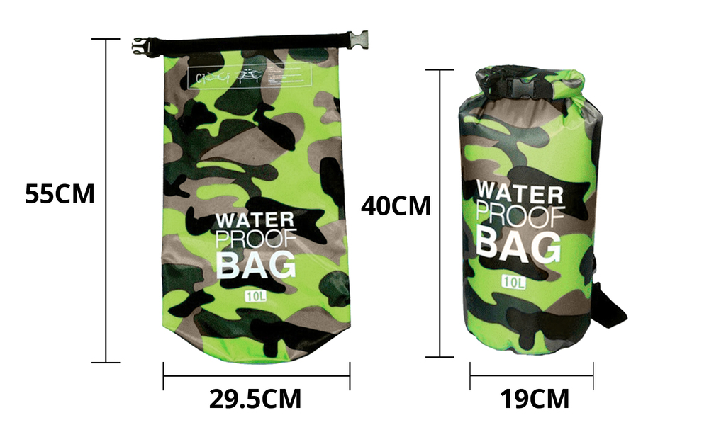 Green dry bags with shoulder strap 2452   web2