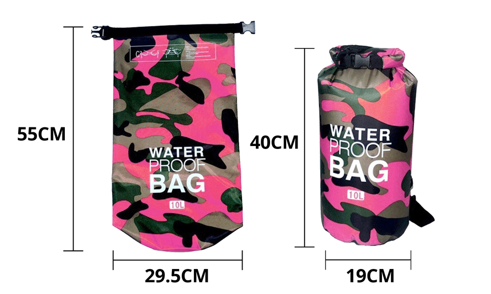 Pink dry bags with shoulder strap 2452   web2