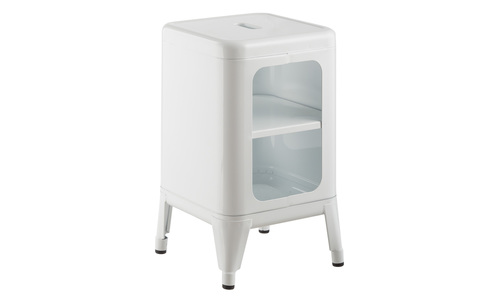 White   replica frederic gaunet tolix cabinet 2 tier   web1