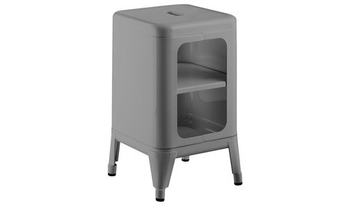Grey   replica frederic gaunet tolix cabinet 2 tier   web1