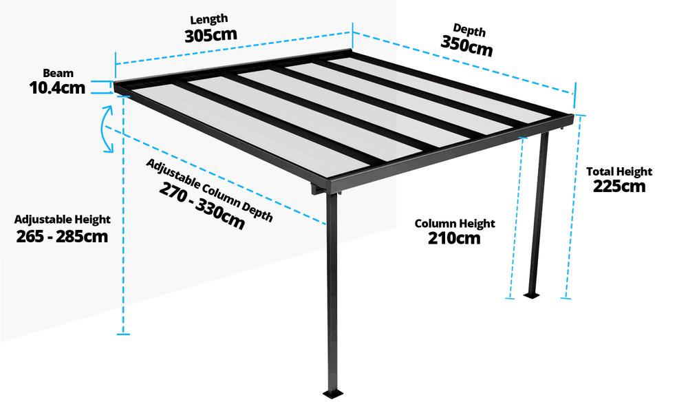 3.05 x 3.5m measurement   web