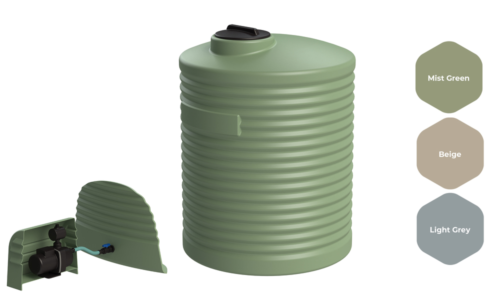 Promax water tank 2000l with pump 2531   web1