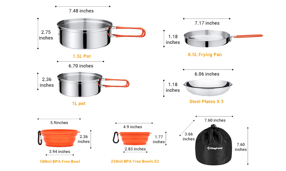 Camping cookware mess kit 2551   web4
