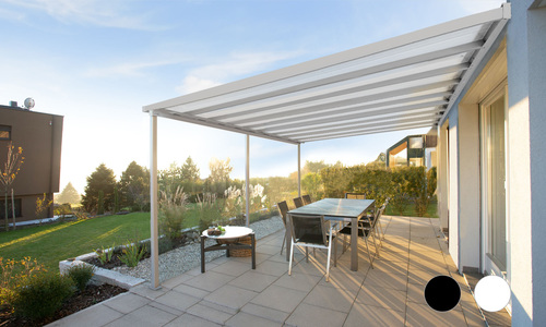 5.45 x 4m wall mounted patio cover 2501 colour   web