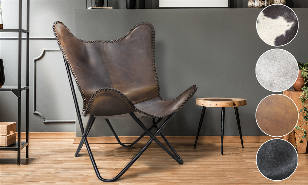 Chocolate lifestyle   genuine leather butterfly chair   email