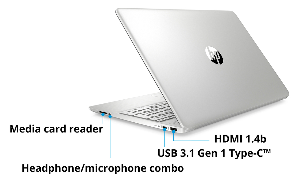 Hp 15.6  i3 8gb 256gb laptop silver 2596   web3