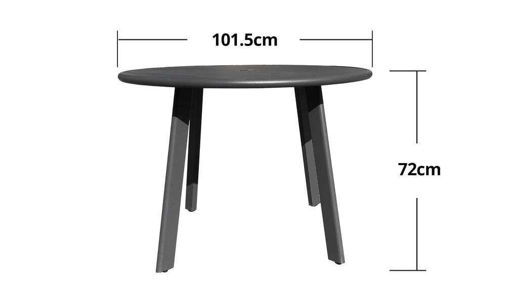 102cm full alum side table 2597   web4