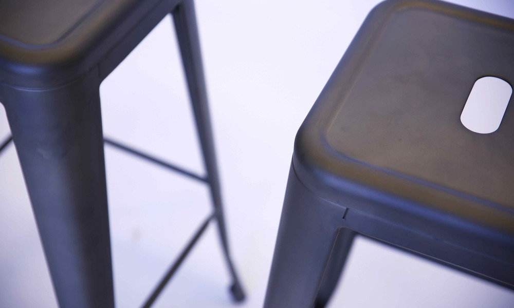 container door tolix replica bar stool