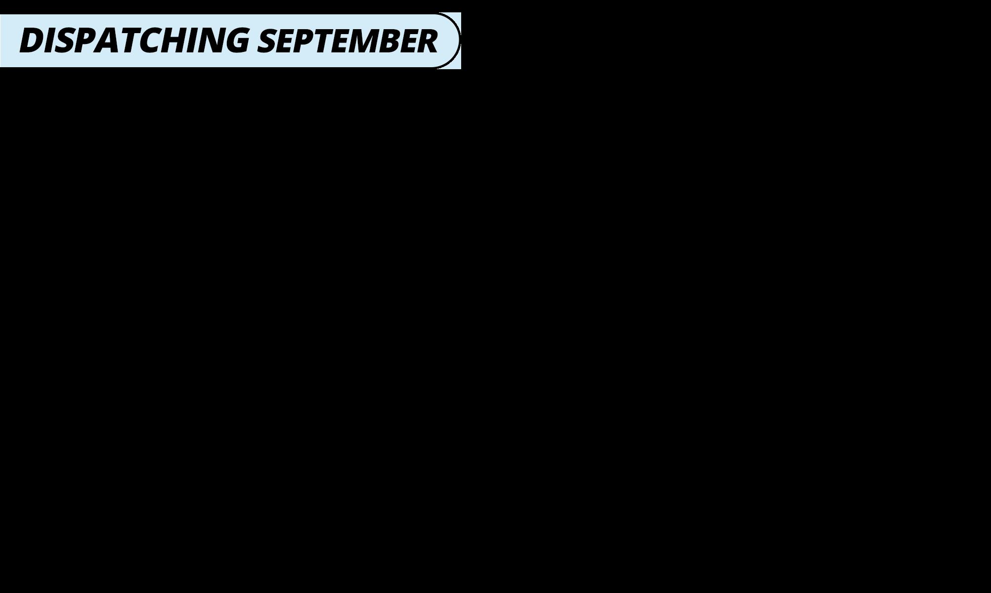 Dispatching september   blue