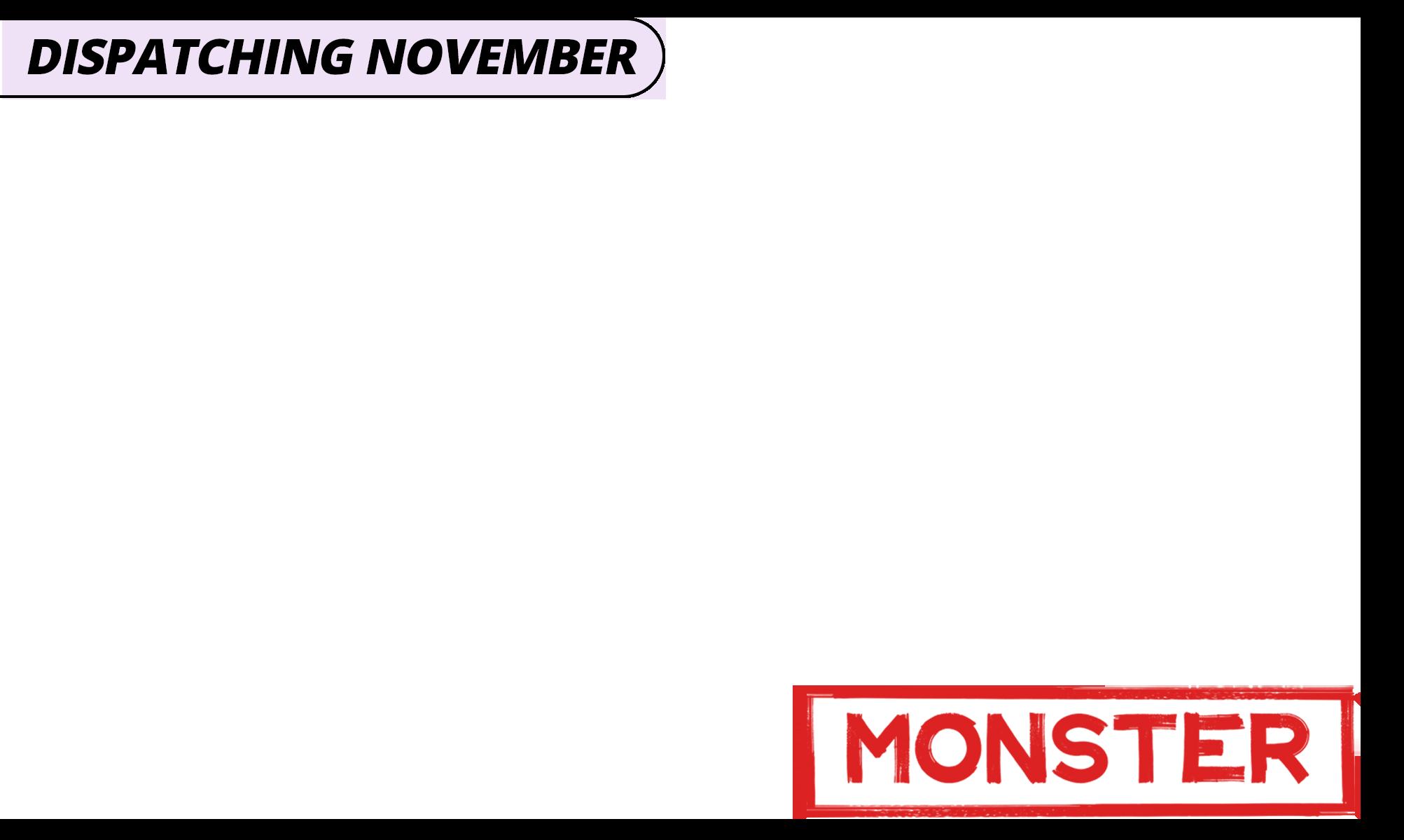 Dispatching november   monster   purple