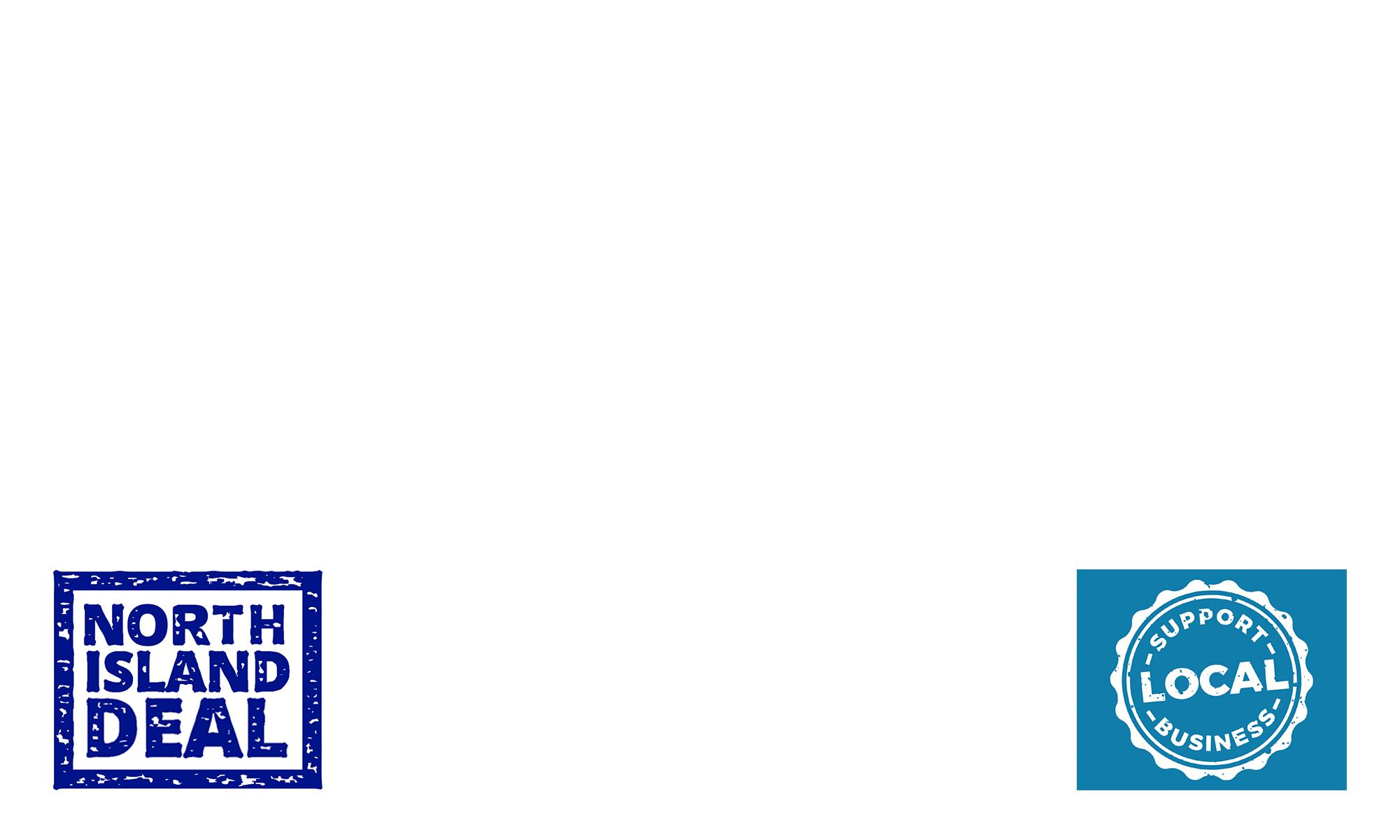 North island support logo overlay