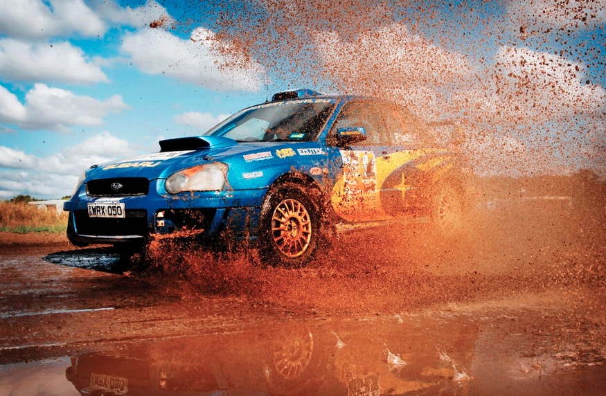 A rally driving experience makes for a great buck's party idea