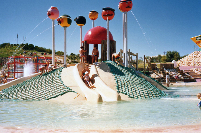 A waterslide at Atlantis Marine Park in 1985. Picture courtesy Wanneroo Regional Museum