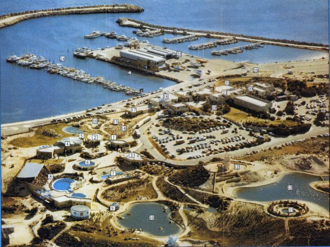 An aerial view of Atlantis Marine Park and Two Rocks Marina from the park's brochure. Picture courtesy Wanneroo Regional Museum