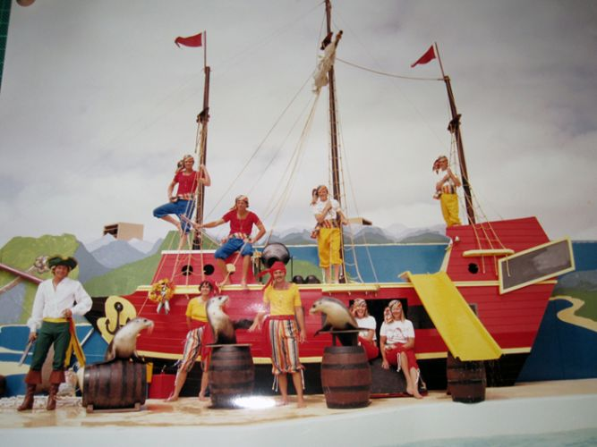 First boat set for sea lion and seal show at Atlantis Marine Park in 1982. Picture courtesy Wanneroo Regional Museum