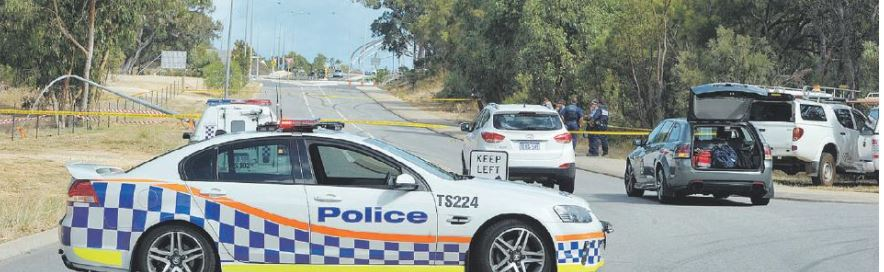 Police attend the scene where a 15-year-old boy suffered an electric shock on March 16.
